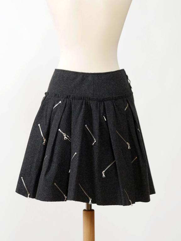 Black MARC JACOBS Zipper Mini Skirt For Sale