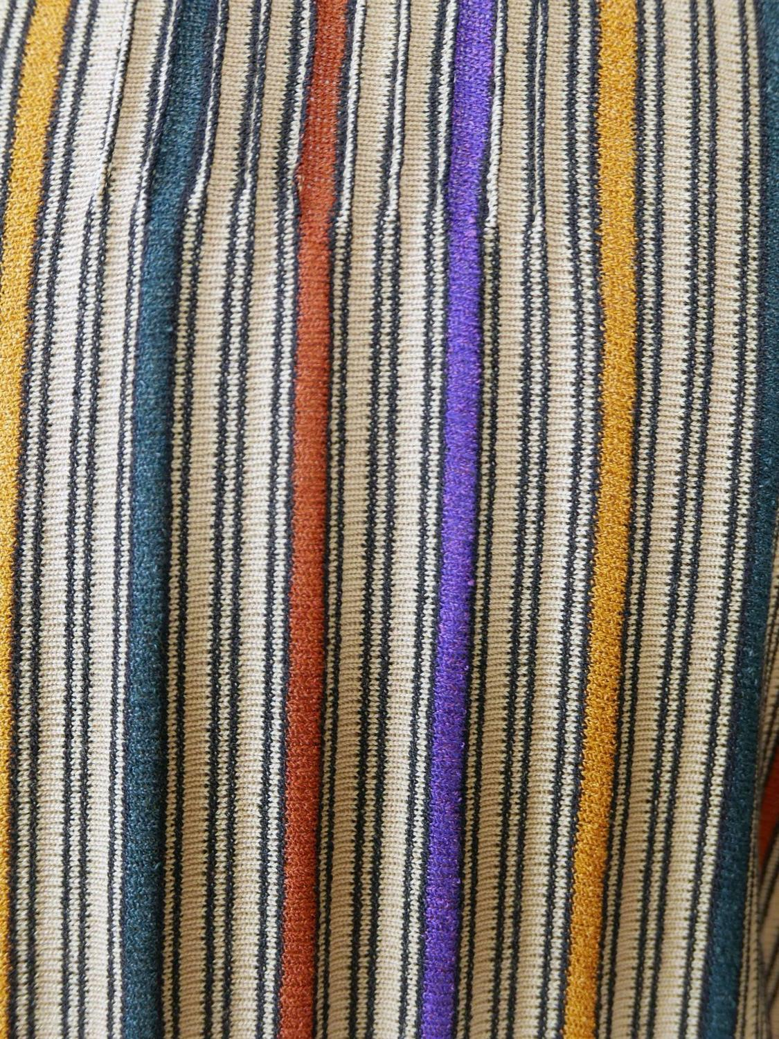1970s missoni knit sweater striped cardigan for sale at 1stdibs - Tapis bambou 120x180 ...