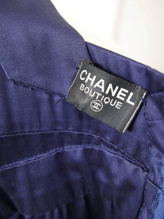 1990s CHANEL Blue Navy Cotton Dress 8