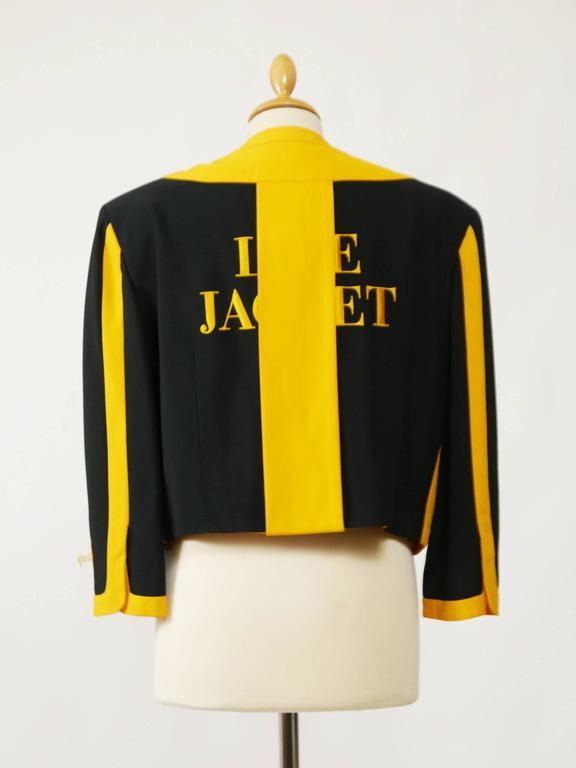 1980s MOSCHINO Cruise Me Baby Life Jacket Blazer 3