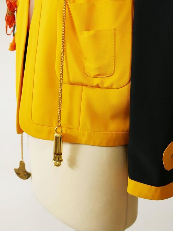 Women's 1980s MOSCHINO Cruise Me Baby Life Jacket Blazer For Sale