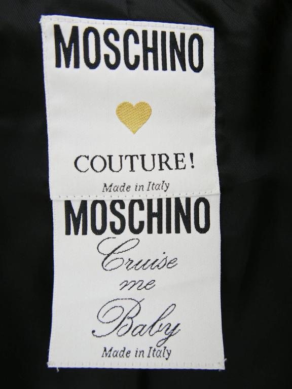 1980s MOSCHINO Cruise Me Baby Life Jacket Blazer For Sale 5