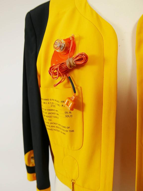 1980s MOSCHINO Cruise Me Baby Life Jacket Blazer For Sale 1