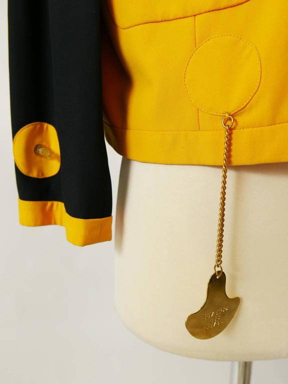 1980s MOSCHINO Cruise Me Baby Life Jacket Blazer For Sale 3