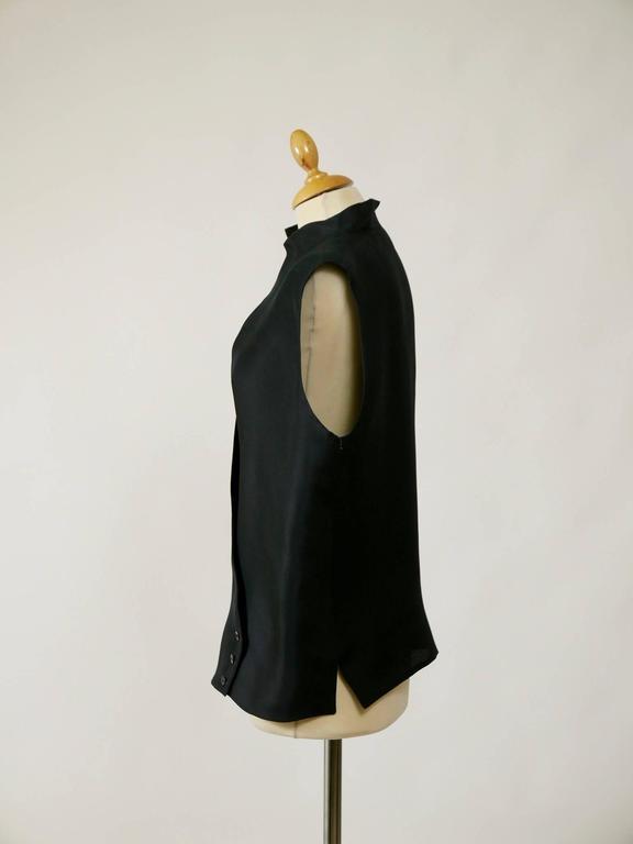 1990s GIANFRANCO FERRE' Black Minimal Vest 2