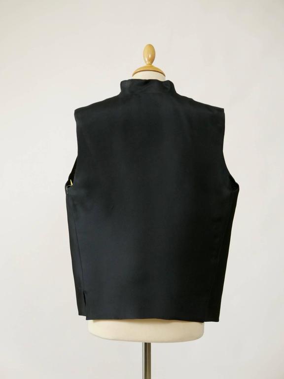 1990s GIANFRANCO FERRE' Black Minimal Vest 3