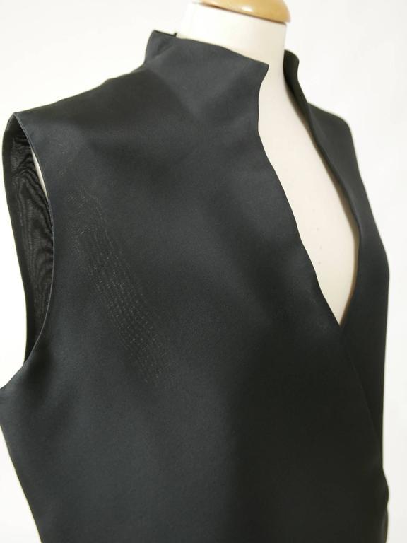 1990s GIANFRANCO FERRE' Black Minimal Vest 4