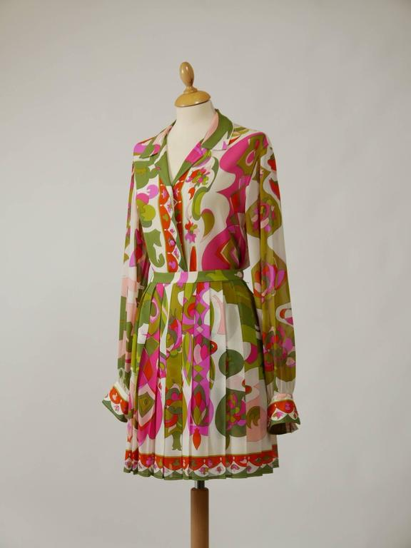 1970s EMILIO PUCCI Silk Suit Dress 2