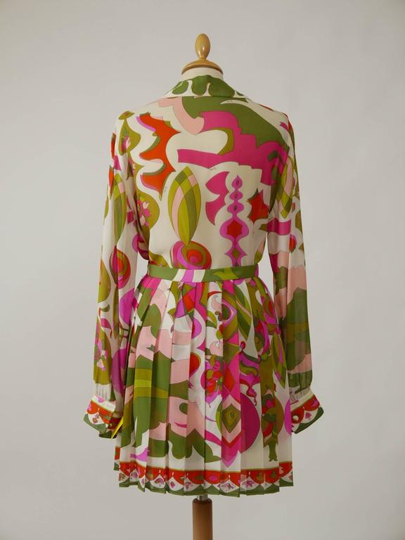 1970s EMILIO PUCCI Silk Suit Dress 3