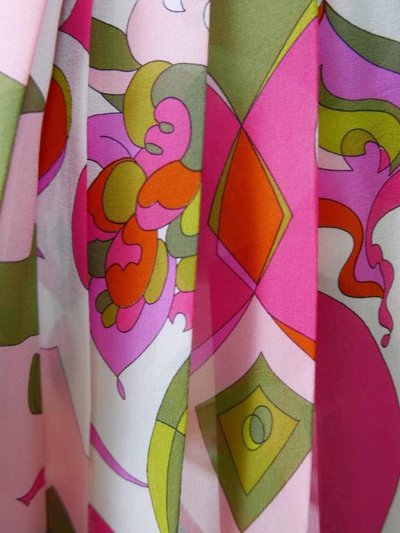 1970s EMILIO PUCCI Silk Suit Dress 6