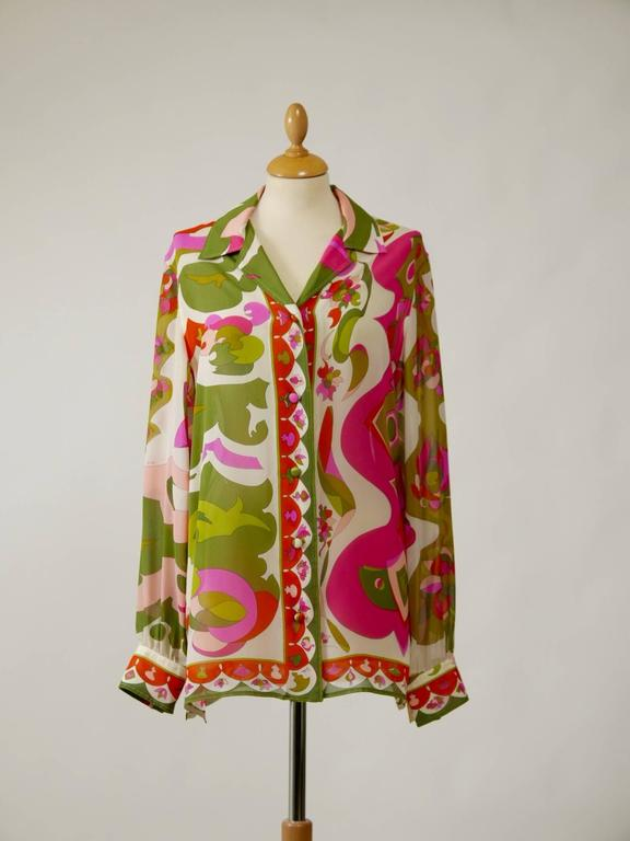 1970s EMILIO PUCCI Silk Suit Dress 5