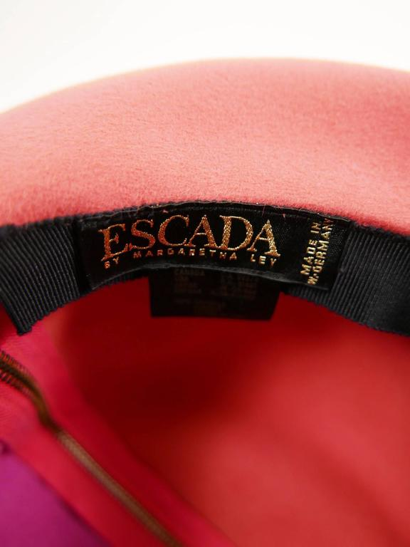 1990s ESCADA Pink Felt Zipper Hat 10