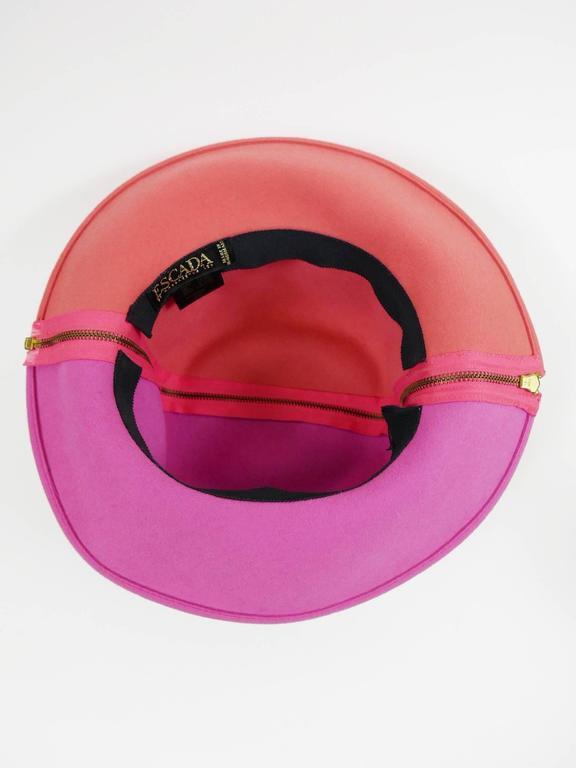 1990s ESCADA Pink Felt Zipper Hat 7