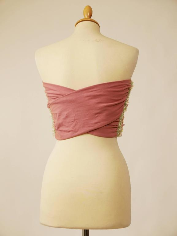 1980s Callaghan Beadeds Sequins Top Bustier 3