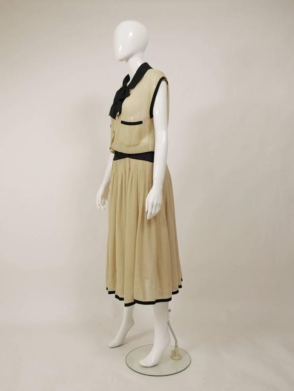 1970s CHANEL Cream Knit Dress 2