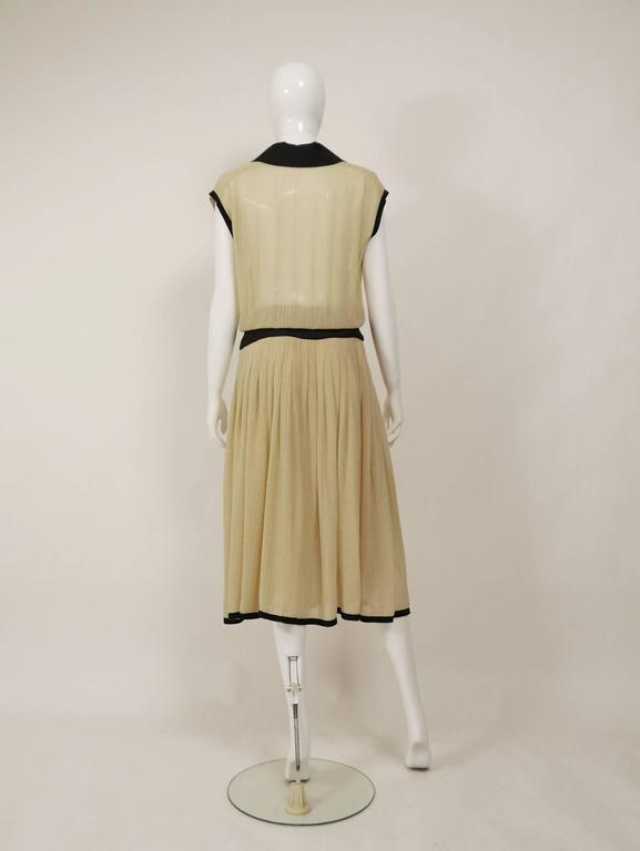 1970s CHANEL Cream Knit Dress 3