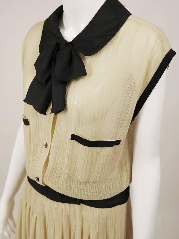 1970s CHANEL Cream Knit Dress 4