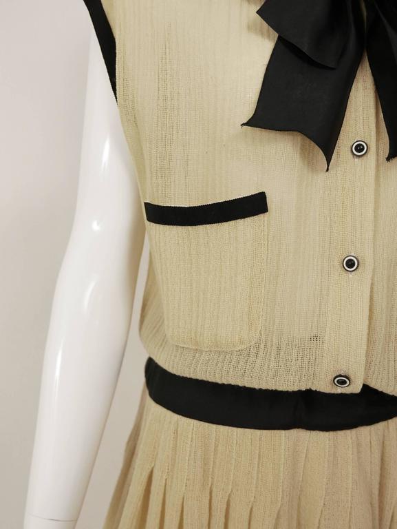 1970s CHANEL Cream Knit Dress 5