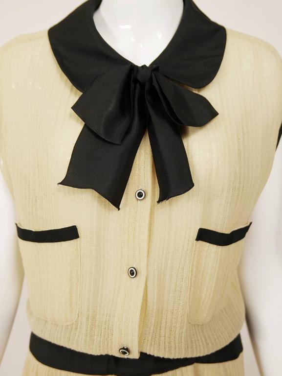 1970s CHANEL Cream Knit Dress 6