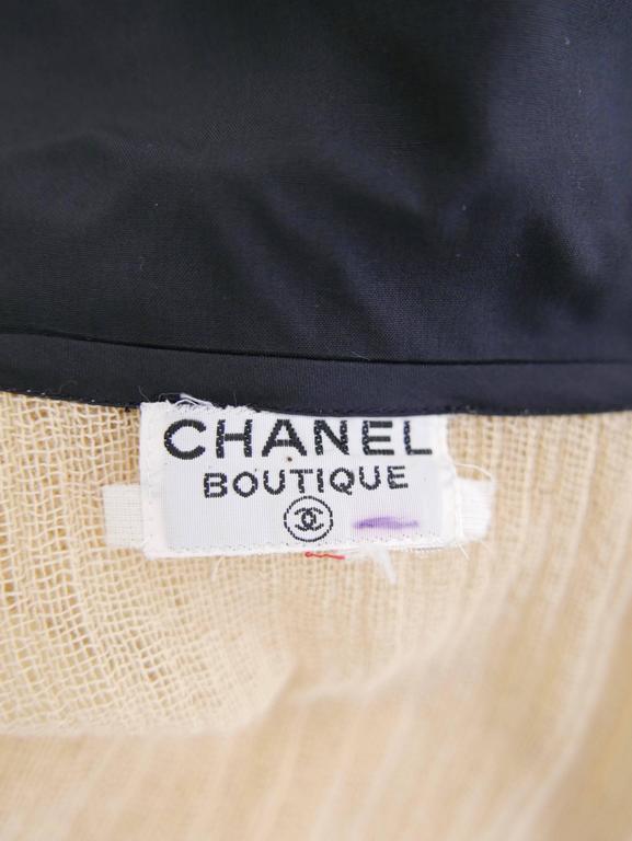 1970s CHANEL Cream Knit Dress 7