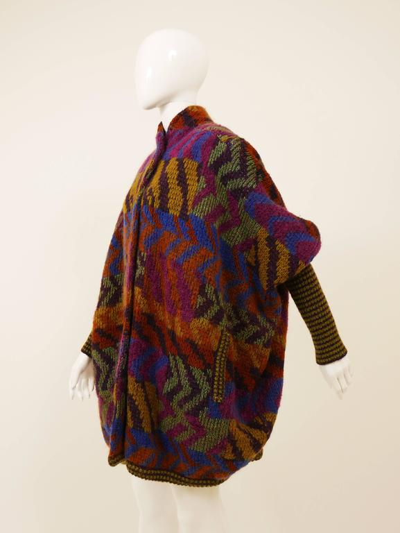 1980s MISSONI Knitted Wool Oversize Sweater Jacket 2