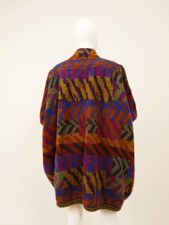 1980s MISSONI Knitted Wool Oversize Sweater Jacket 3