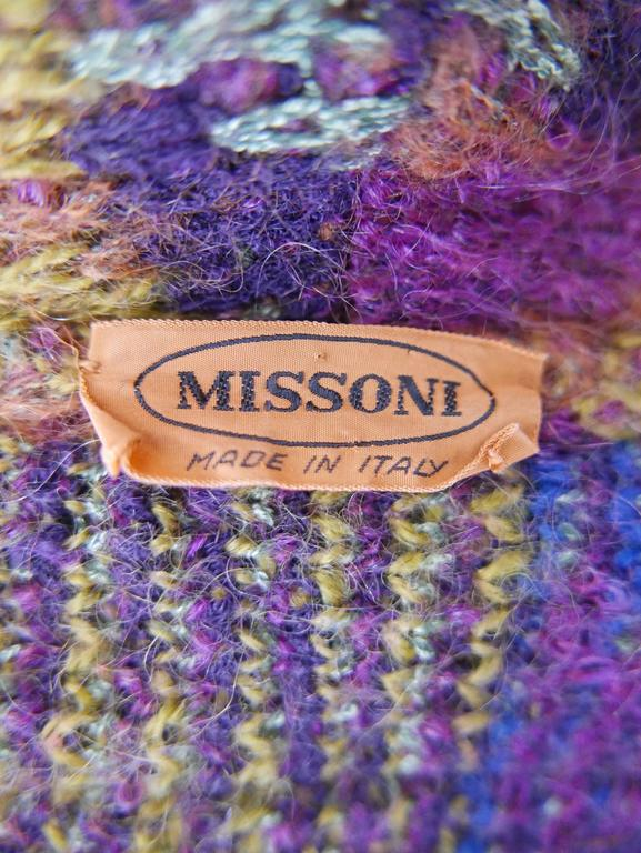 1980s MISSONI Knitted Wool Oversize Sweater Jacket 5