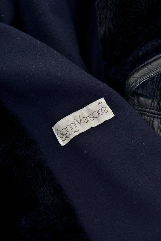1980s GIANNI VERSACE Black Leather Suit Dress For Sale 1