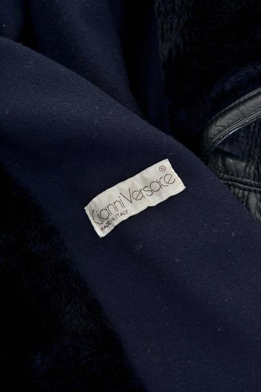 1980s GIANNI VERSACE Black Leather Suit Dress 5