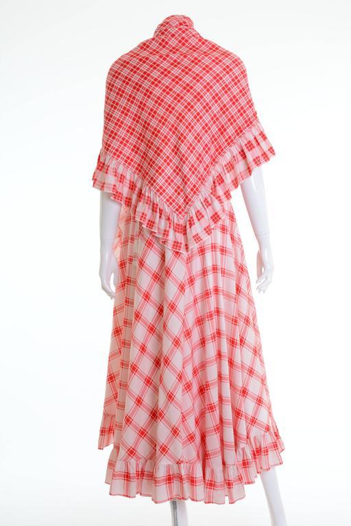 1970s SAINT LAURENT Rive Gauche Gypsy Skirt & Scarf Set  2