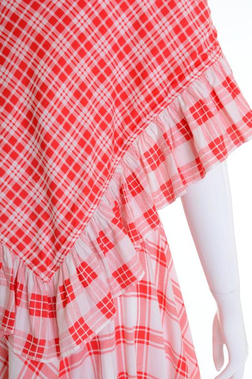 Pink 1970s SAINT LAURENT Rive Gauche Gypsy Skirt & Scarf Set  For Sale