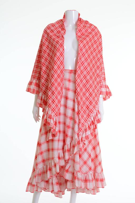 Women's 1970s SAINT LAURENT Rive Gauche Gypsy Skirt & Scarf Set  For Sale