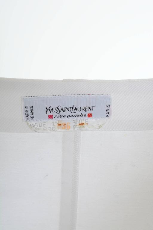 1990s Yves Saint Laurent Rive Gauche White Peasant Blouse 4