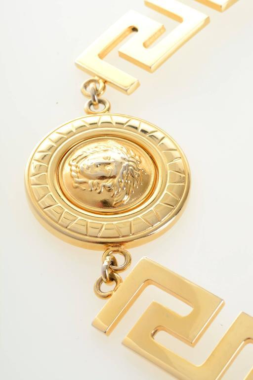 1990s Gianni Versace Medusa Gold Chain Belt 5