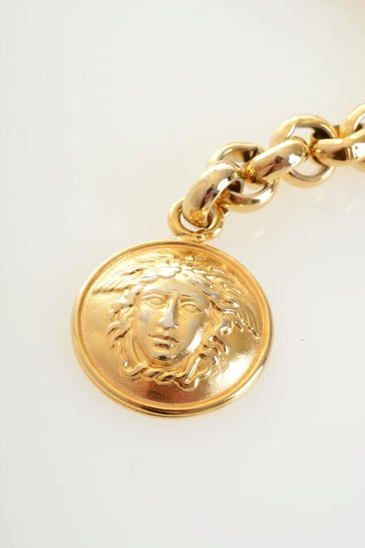 1990s Gianni Versace Medusa Gold Chain Belt 6