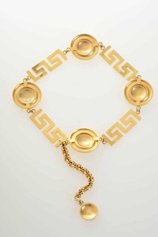 1990s Gianni Versace Medusa Gold Chain Belt 7