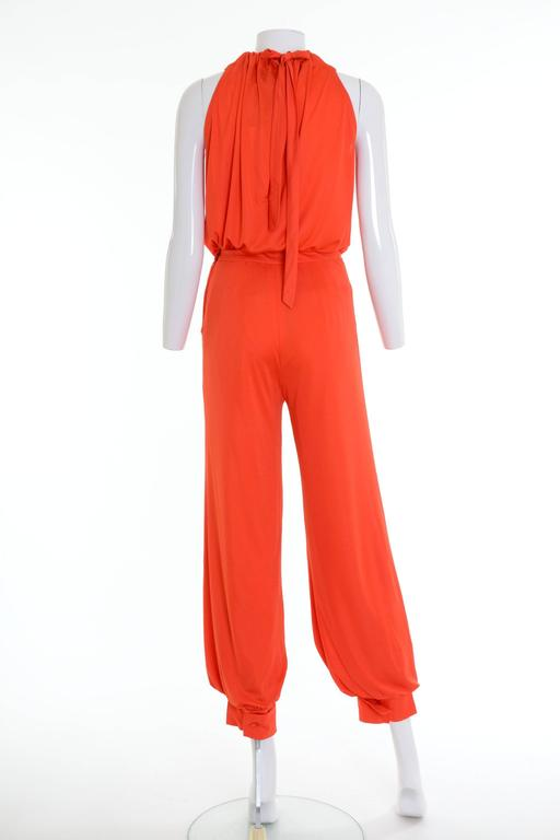Red 1960s 1970s GIO CARÉ Orange Pants Suit New with Tag For Sale