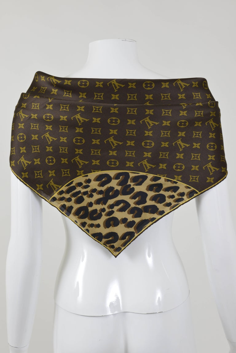 louis vuitton silk monogram scarf for sale at 1stdibs