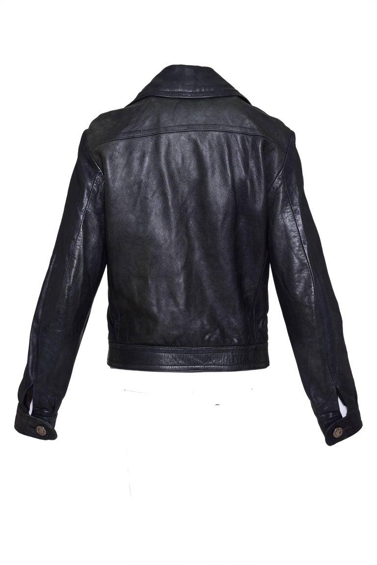 1960s PIERRE CARDIN Dark Green Leather Jacket  2