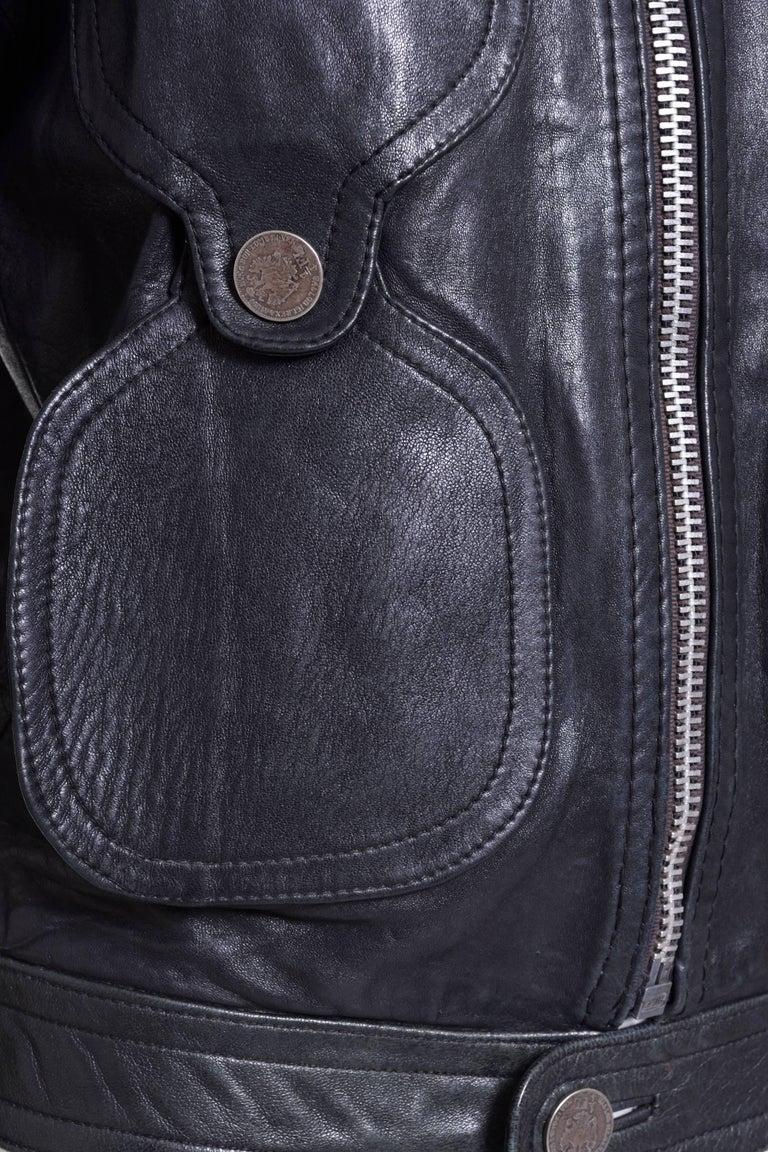 1960s PIERRE CARDIN Dark Green Leather Jacket  3