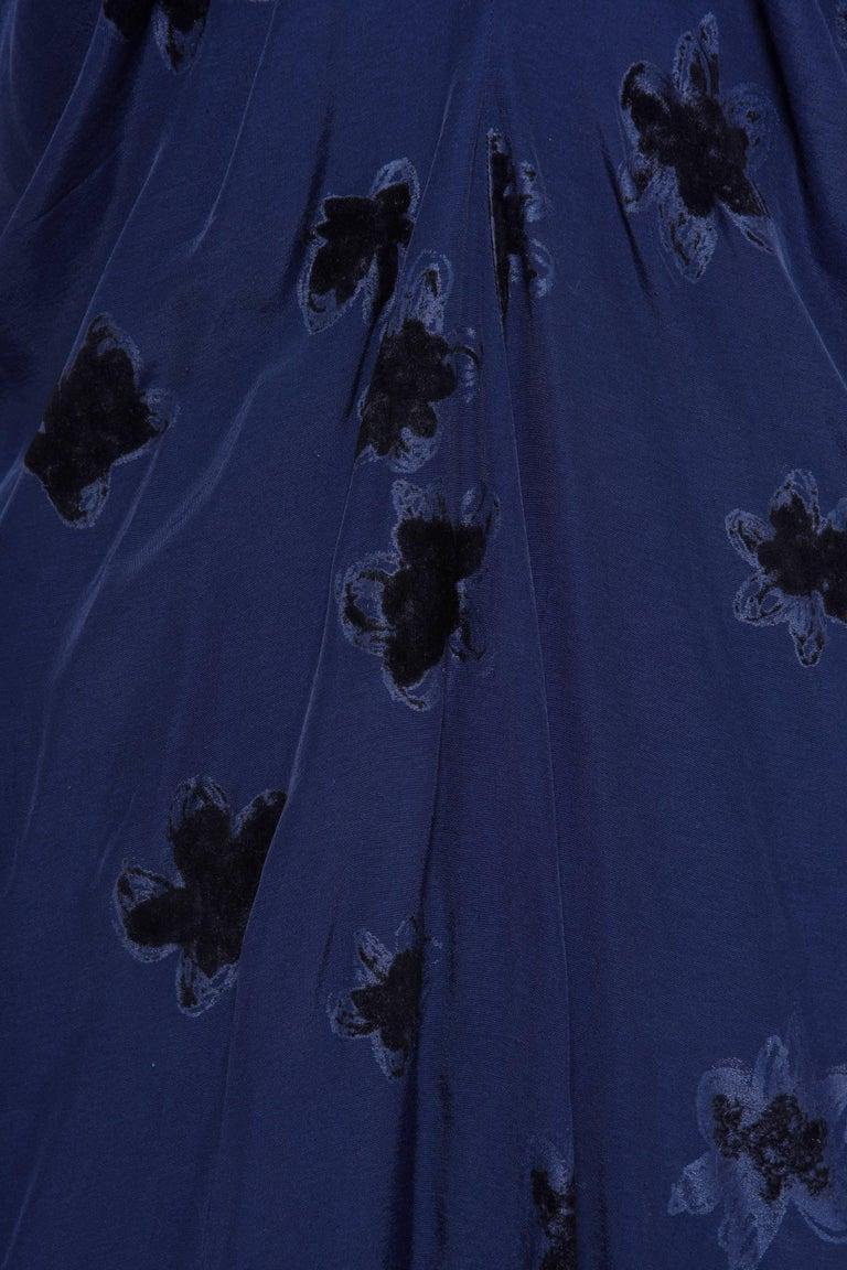 Black COMME DE GARCONS Blue Flower Dress  For Sale