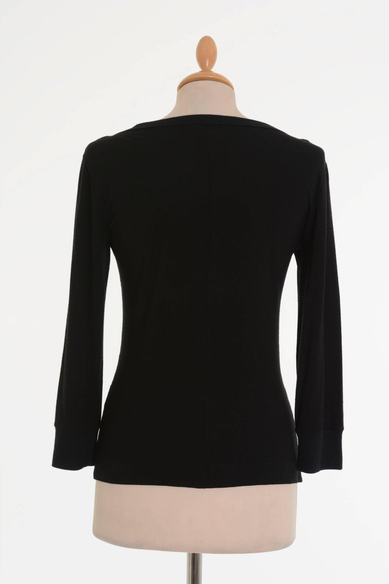 Dolce & Gabbana Black T-shirt Cardigan with Cream Lace Tank Top For Sale 1