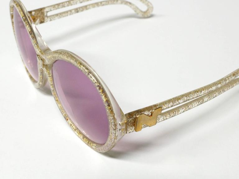 1970s Nina Ricci Gold and Glitter Sunglasses  10