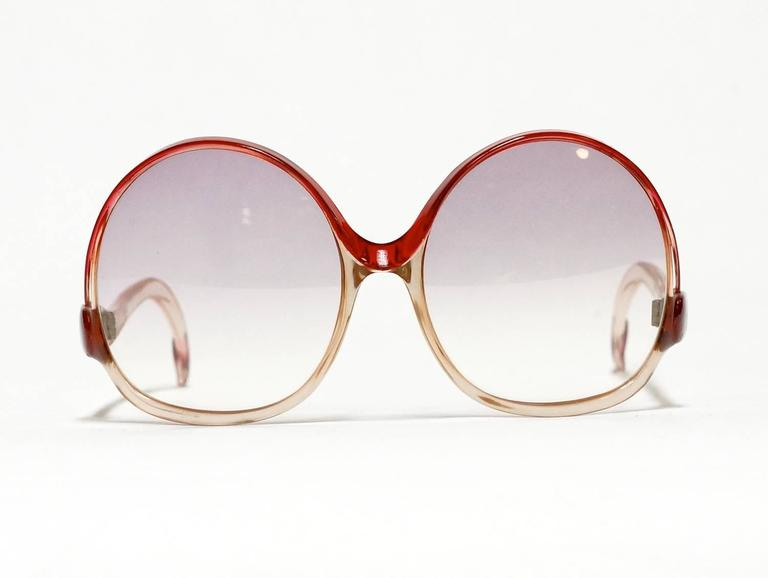 1970s Balenciaga Oversized Sunglasses model 7697 2