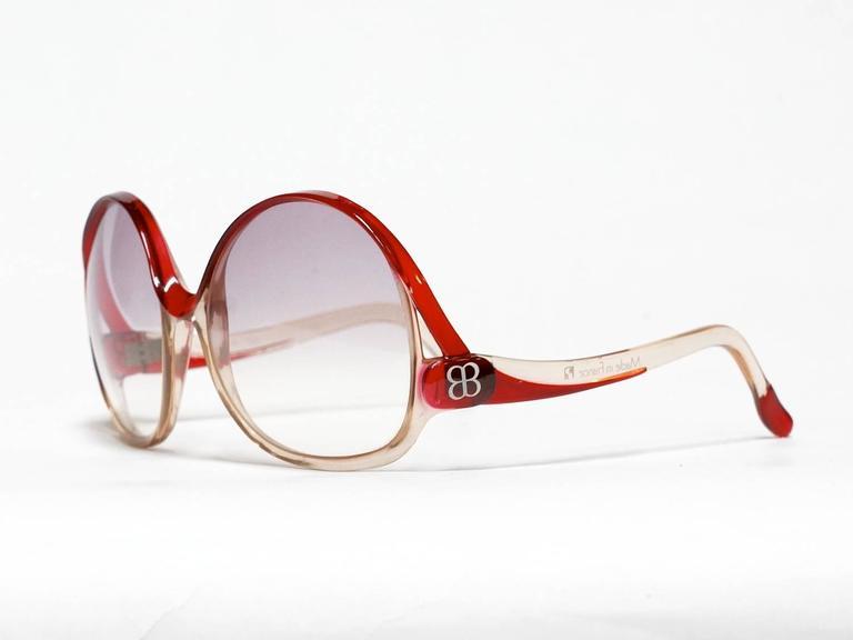 1970s Balenciaga Oversized Sunglasses model 7697 3