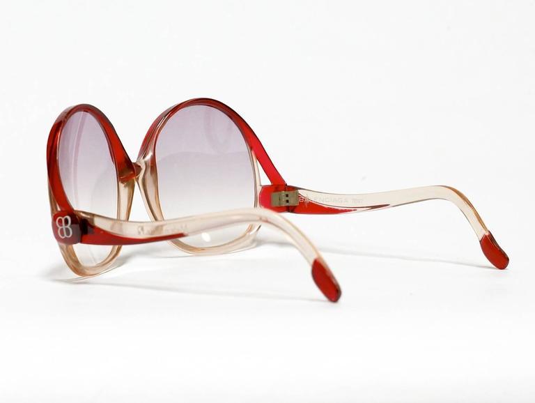 1970s Balenciaga Oversized Sunglasses model 7697 4