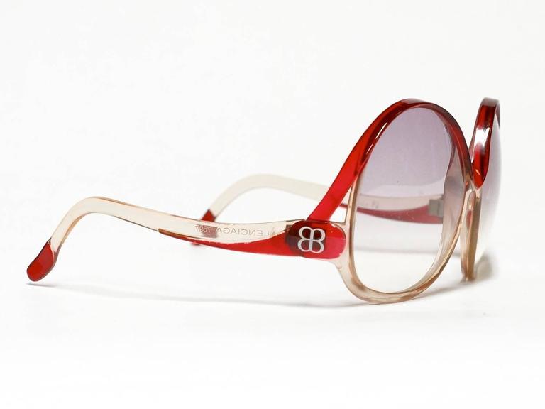 1970s Balenciaga Oversized Sunglasses model 7697 5
