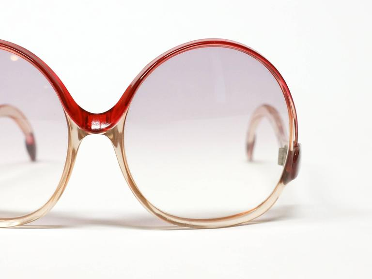 1970s Balenciaga Oversized Sunglasses model 7697 9