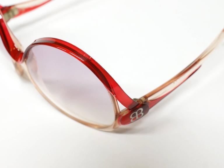 1970s Balenciaga Oversized Sunglasses model 7697 10