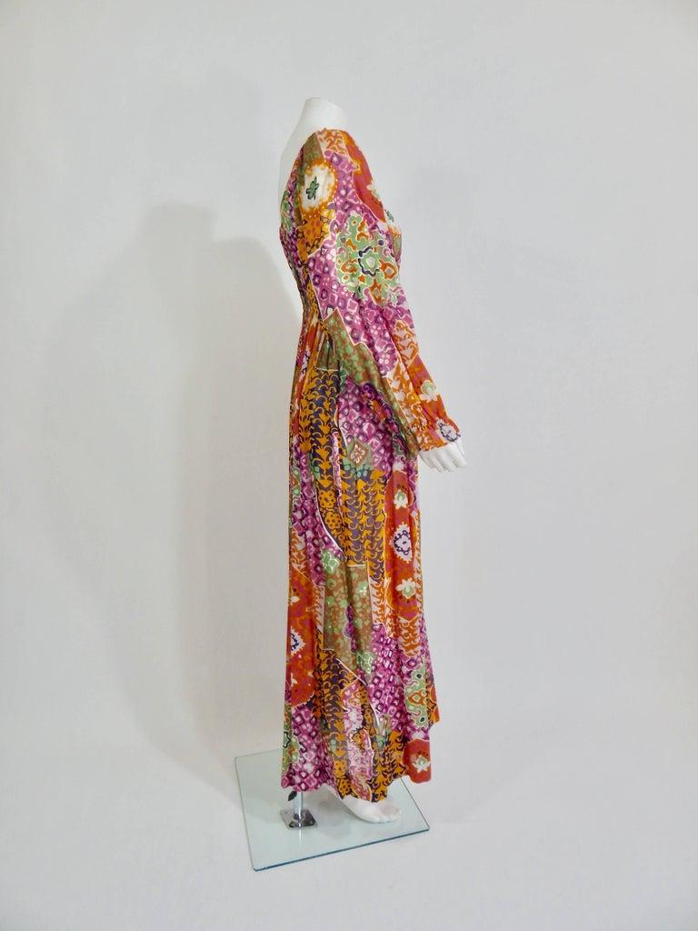 1970s Bohemian Maxi Dress 7
